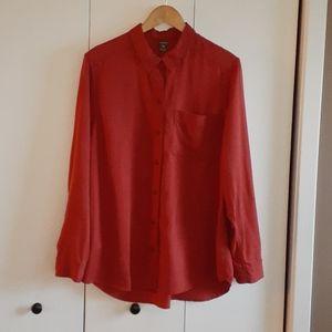 Eddie Bauer tencel long sleeve casual dressy shirt